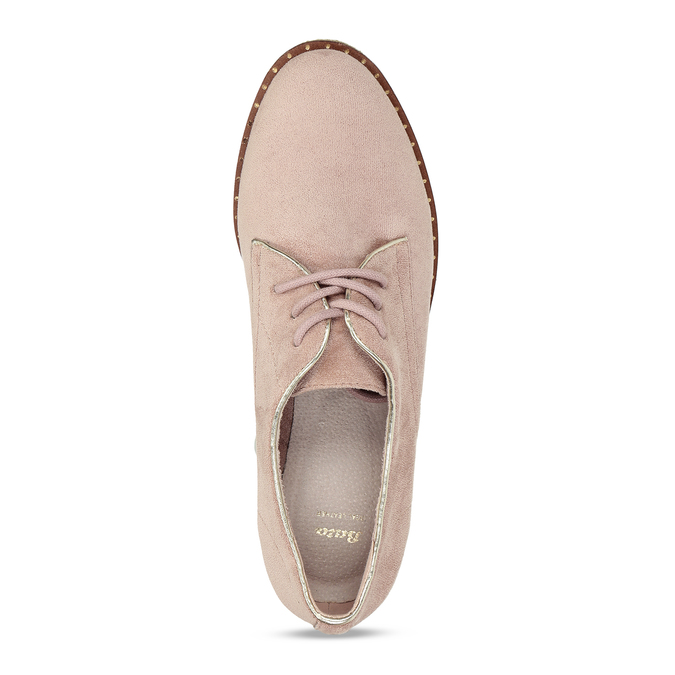Růžové dámské polobotky bez podpatku bata, růžová, 529-5603 - 17