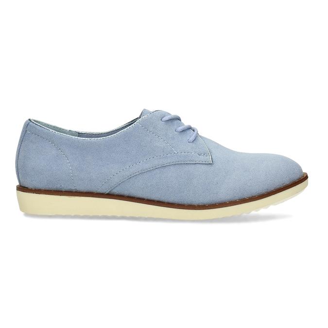 Modré dámské polobotky bez podpatku bata, modrá, 529-9603 - 19