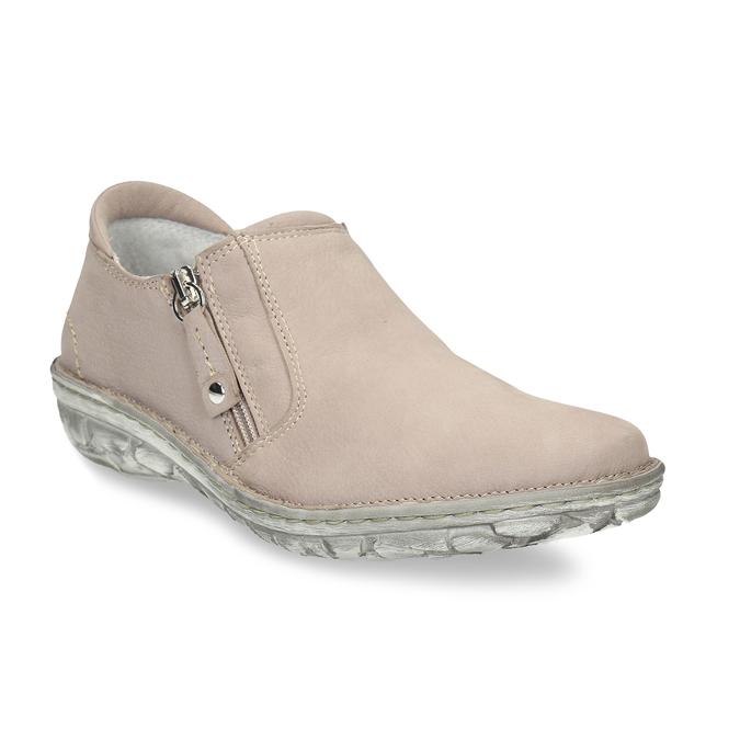 Dámská kožená béžová slip-on obuv bata, béžová, 526-8626 - 13