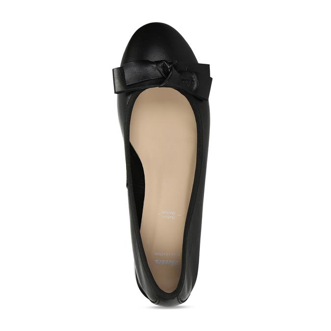 Dámské kožené baleríny na nízkém podpatku bata, černá, 524-6627 - 17