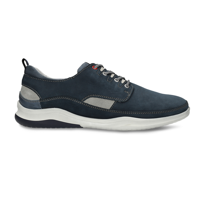 Pánské tmavě modré kožené tenisky bata, modrá, 846-9604 - 19
