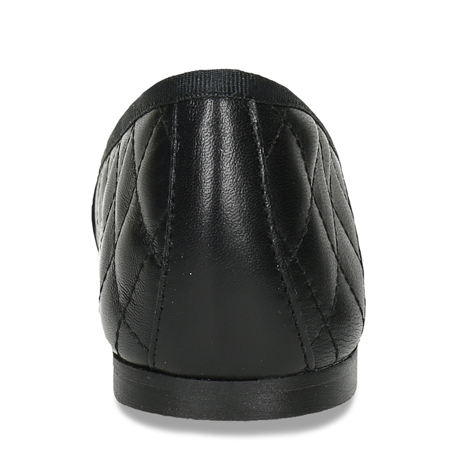 Černé dámské baleríny kožené bata, černá, 524-6626 - 15