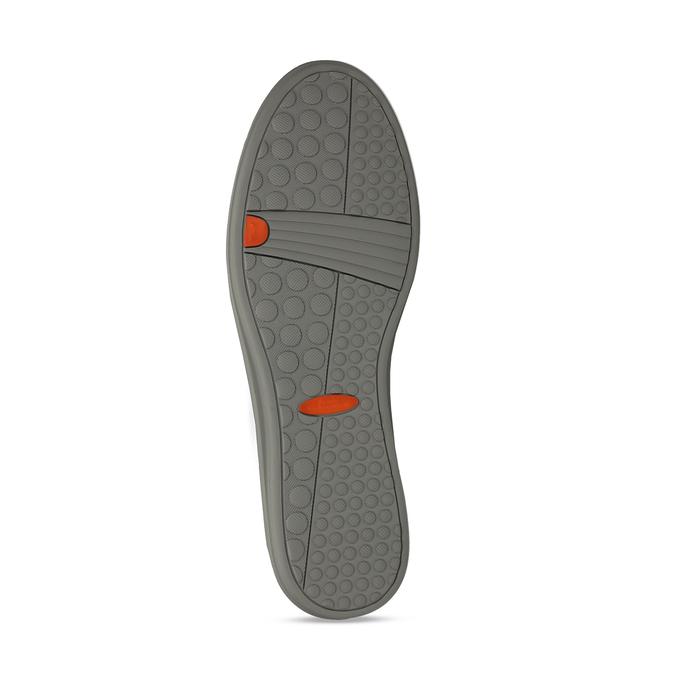 Pánské šedé kožené mokasíny flexible, šedá, 853-2620 - 18