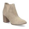 Béžová dámská kožená Chelsea obuv bata, hnědá, 693-4601 - 13
