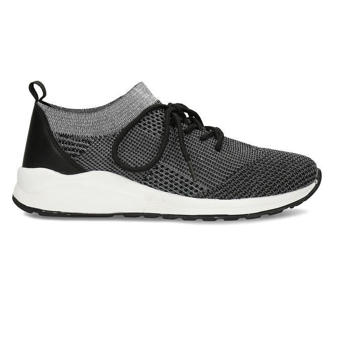 Dámské černé žíhané tenisky bata-light, černá, 541-6615 - 19