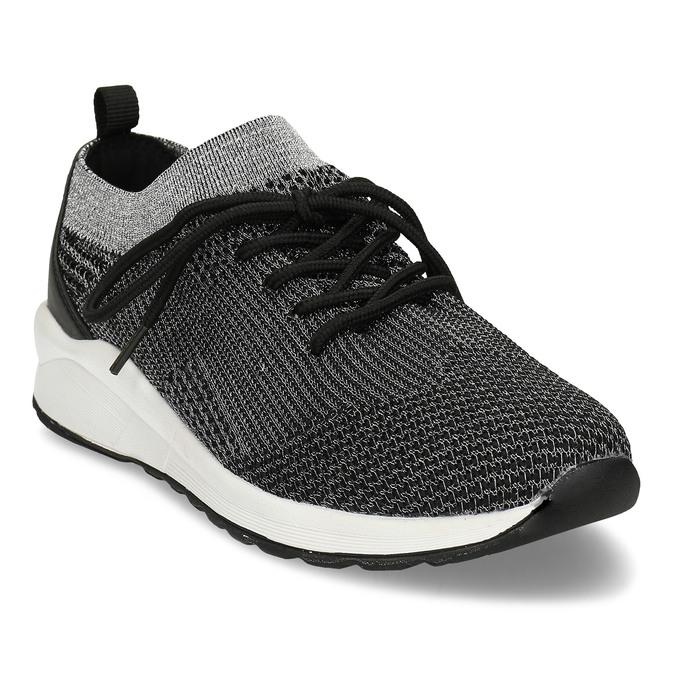 Dámské černé žíhané tenisky bata-light, černá, 541-6615 - 13