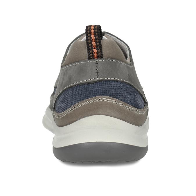 Šedé pánské kožené tenisky městského stylu bata, šedá, 846-2604 - 15