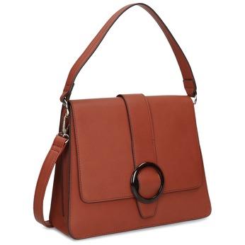 Dámská kabelka s kulatou sponou bata-red-label, hnědá, 961-5838 - 13