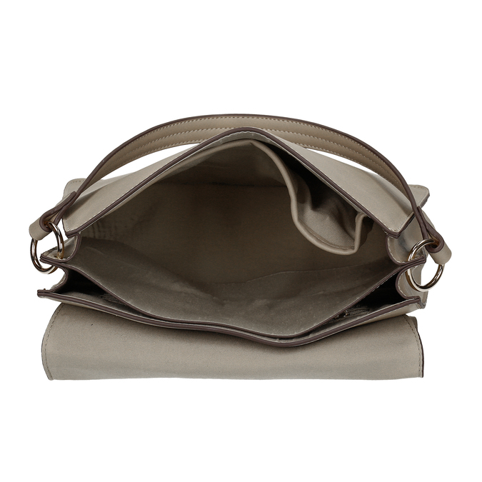 Šedá dámská kabelka s přezkou bata-red-label, šedá, 961-2838 - 15