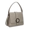 Šedá dámská kabelka s přezkou bata-red-label, šedá, 961-2838 - 13