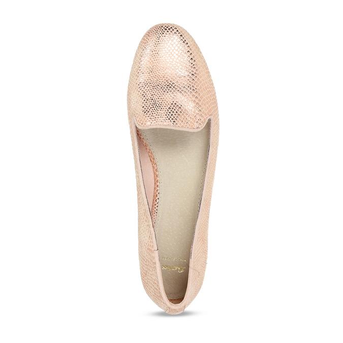 Metalické dámské Loafers mokasíny bata, růžová, 521-5620 - 17