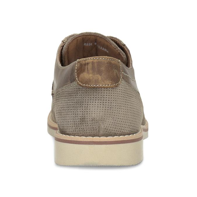 Pánské kožené polobotky béžové bata, béžová, 823-8610 - 15