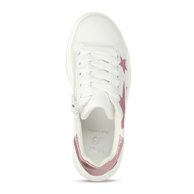 Bílé dívčí tenisky s růžovými hvězdami mini-b, bílá, 321-1646 - 17