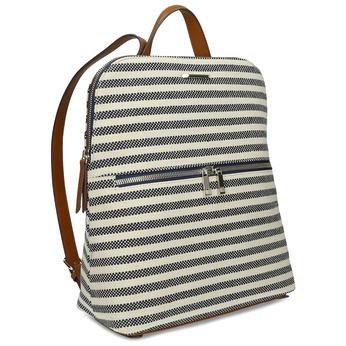 Pruhovaný dámský batoh s hnědými detaily bata-red-label, vícebarevné, 961-0831 - 13