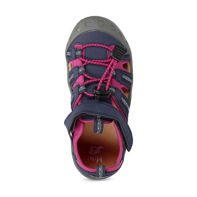 Dětské modré sandály s růžovými detaily mini-b, modrá, 461-9706 - 17