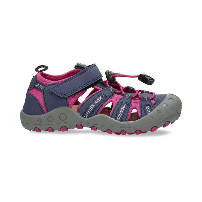 Dětské modré sandály s růžovými detaily mini-b, modrá, 461-9706 - 19