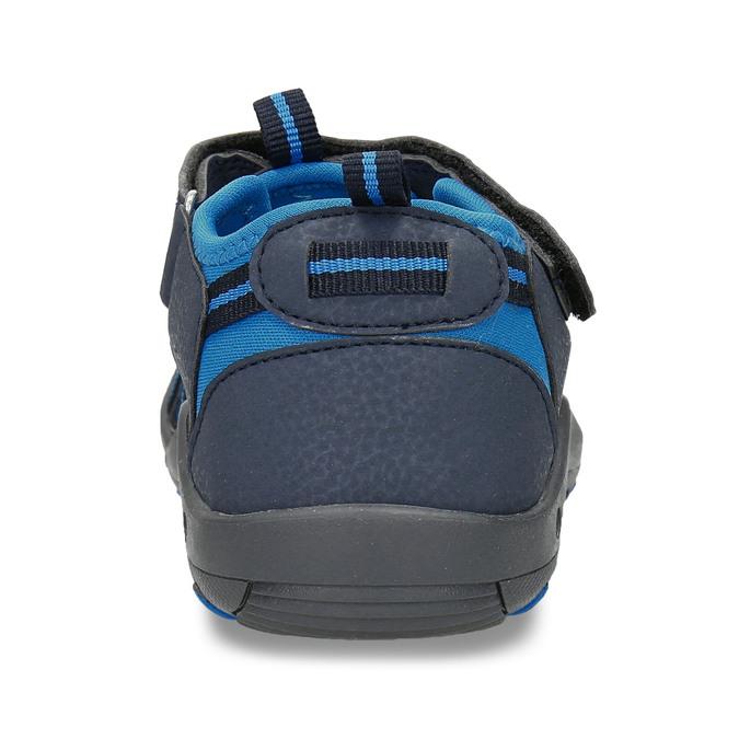 Modré dětské sandály na suchý zip mini-b, modrá, 261-9806 - 15