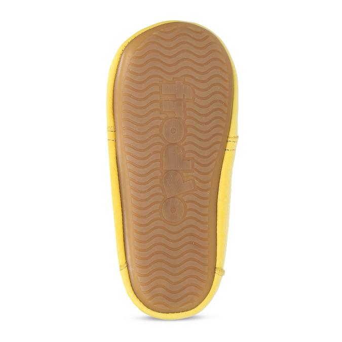 DOMÁCÍ OBUV DĚTSKÁ ŽLUTÁ KOŽENÁ froddo, žlutá, 104-8600 - 18