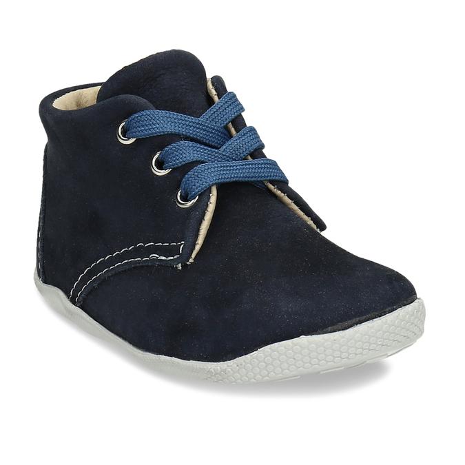 Modrá kožená dětská kotníková obuv bubblegummers, modrá, 116-9602 - 13