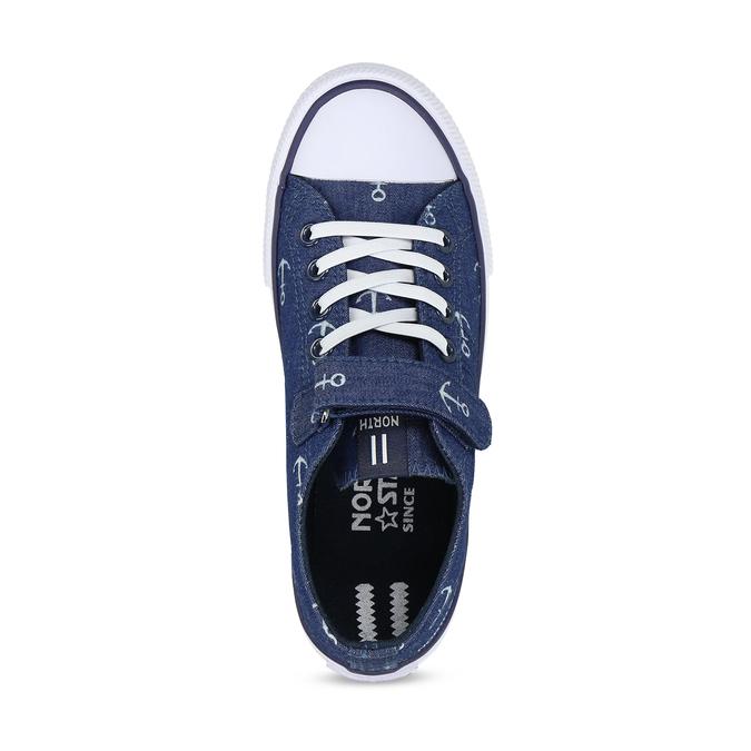 Dětské modré tenisky s potiskem north-star, modrá, 419-9625 - 17