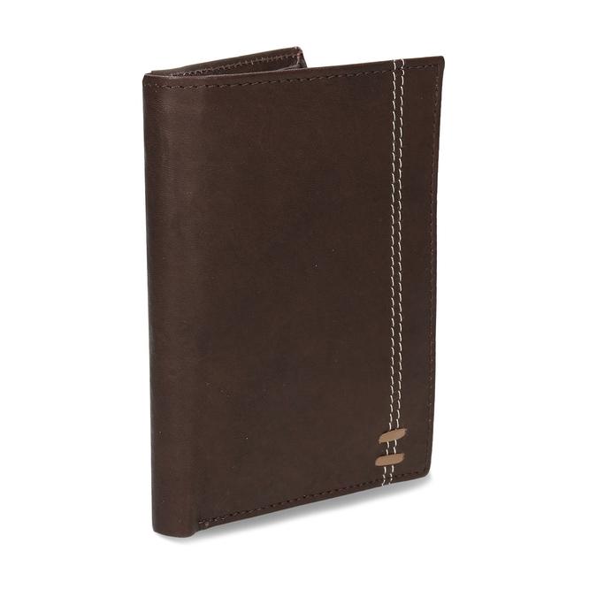 Tmavě hnědá pánská kožená peněženky bata, hnědá, 944-4639 - 13