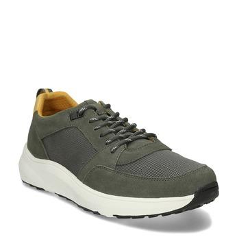 Khaki kožené pánské tenisky bata-light, zelená, 843-7638 - 13