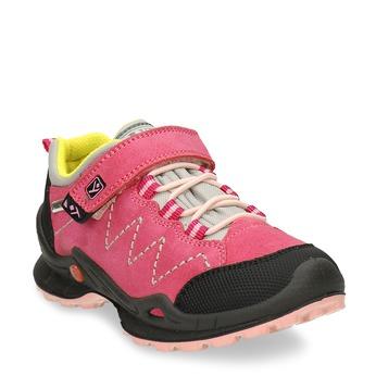 Dětské růžové tenisky z broušené kůže mini-b, růžová, 423-5611 - 13