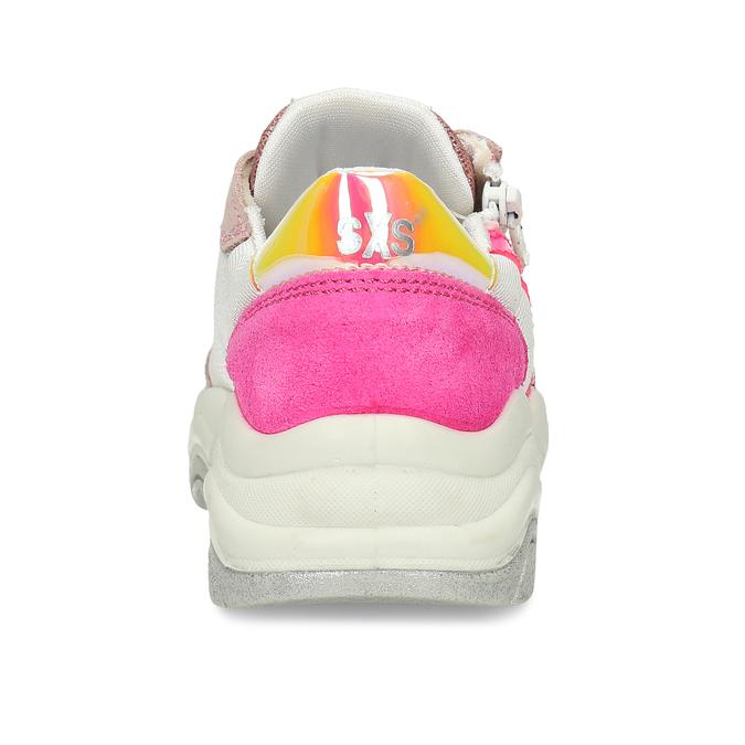 Dětské tenisky s růžovými a neonovými detaily mini-b, růžová, 429-5623 - 15