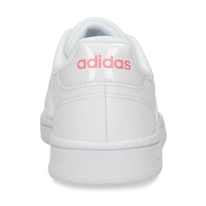 Dámksé bílé tenisky s detaily lososové barvy adidas, bílá, 501-1349 - 15