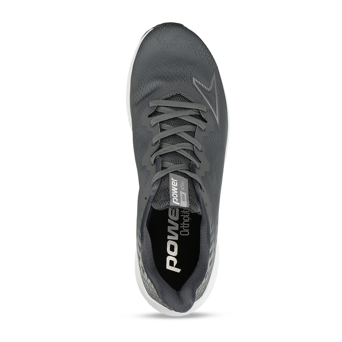 Pánská šedá běžecká obuv power, šedá, 809-2586 - 17