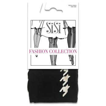 Černé dámské ponožky s kohoutí stopou novodonia-sisi, černá, 919-0638 - 13
