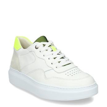 Dámské kožené bílé tenisky městského stylu bata, bílá, 544-8603 - 13