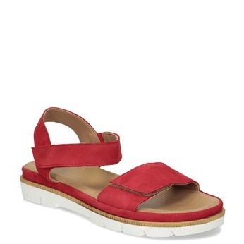 Dámské červené sandály z broušené kůže bata, červená, 563-5601 - 13