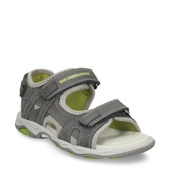 Šedé dětské sandály na suché zipy weinbrenner, šedá, 263-2604 - 13