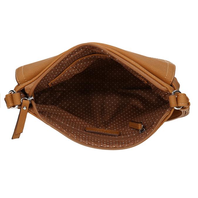Světlehnědá kabelka s klopou i zipem gabor, hnědá, 961-8809 - 15