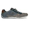 Šedo-modré kožené tenisky s perforací bugatti, šedá, 846-2936 - 19