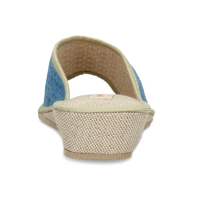 Modré dámské domácí pantofle bata, modrá, 679-9607 - 15