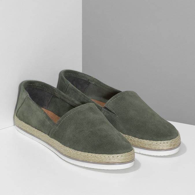 Dámské khaki espadrilky z broušené kůže bata, khaki, 533-3606 - 26