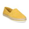 Žluté dámské espadrilky z broušené kůže bata, žlutá, 533-8616 - 13