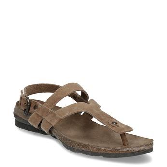 Hnědé dámské celokožené sandály weinbrenner, hnědá, 566-4616 - 13