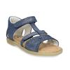Modré dětské kožené sandály na suchý zip mini-b, modrá, 263-9602 - 13