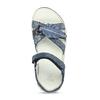 Modré dívčí sandály s pírkem na špičce mini-b, modrá, 261-9601 - 17