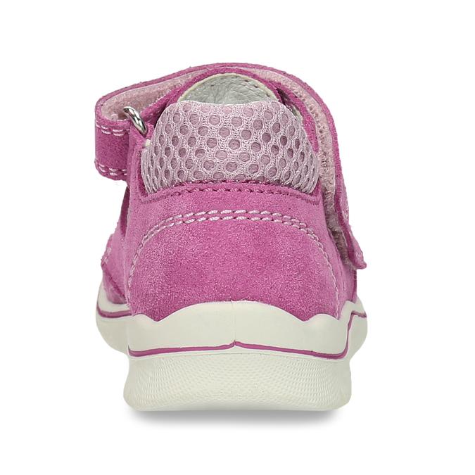 Dětské růžové sandály z broušené kůže bubblegummers, růžová, 163-5600 - 15