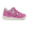 Dětské růžové sandály z broušené kůže bubblegummers, růžová, 163-5600 - 19