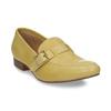 Kožené dámské mokasíny bata, žlutá, 514-8605 - 13