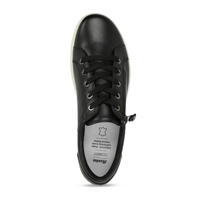 Dámské kožené černé tenisky městského stylu comfit, černá, 544-6605 - 17