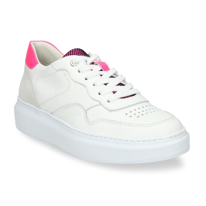 Dámské kožené bílé tenisky městského stylu bata, bílá, 544-5603 - 13
