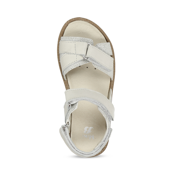 Stříbrné dětské sandály na suché zipy mini-b, stříbrná, 361-8602 - 17