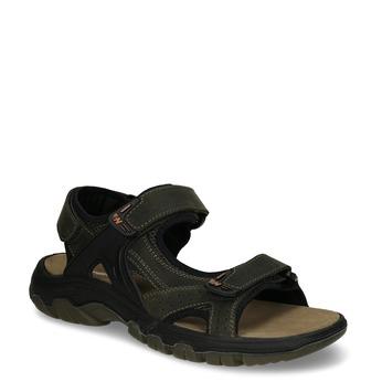 Hnědé pánské kožené sandály ve sportovním střihu weinbrenner, hnědá, 866-4602 - 13