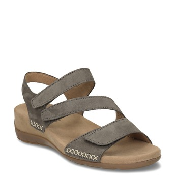 Šedé dámské kožené sandály gabor, šedá, 566-2105 - 13